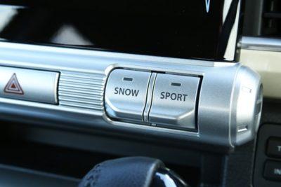 スポーツモードとスノーモードのスイッチ